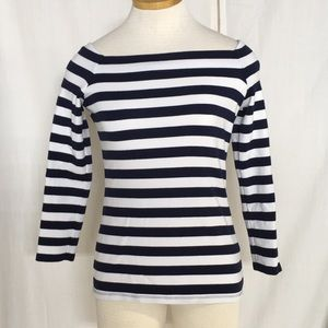 J. Crew Boatneck Striped Tee Shirt